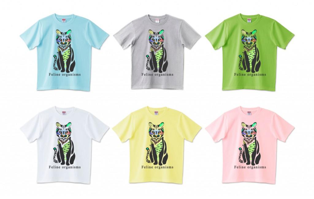 オシャレ猫デザインTシャツ イラストレーター